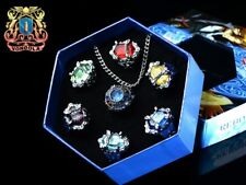 7pcs Katekyo Hitman Reborn the Vongola Family Cospaly Rings in Box
