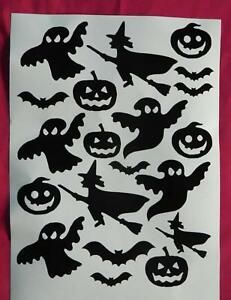 Bat,witches,pumkin,ghost halloween stickers, lots of colours, decoration, party