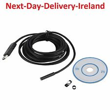 5m 7mm 6 LED USB Waterproof Endoscope Borescope Tube Inspection Snake Camera