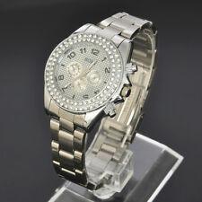 SOKI New Crystal Silver Analog Quartz LADY Womens Wrist Band Watch W116