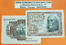 1 billete x 1 PESETA 1953 Marqués de Santa Cruz Pick 144 Serie G CIRCULADA Spain