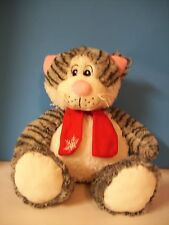 Pacific Coast plush grey-striped Kitty Cat with scarf and squeaker