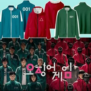 [ SQUID GAME ] Film Costume Adults Man Women Tracksuit Green Red Set Halloween