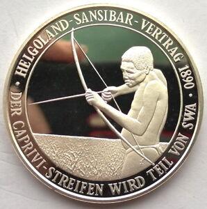 Namibia 1990 100 Years of Sansibar 1oz Silver Coin,Proof,Rare!