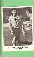 1967  PAUL QUINN  MIRROR NEWSPAPER RUGBY LEAGUE CARD, NEWTOWN