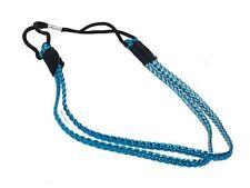Double Two Row Bleu Métallique Tressé Tressé Front Bandeau cheveux bande élastique