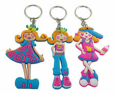Funky Colourful 70s Girl Keyring: Whirl Dress, Jeans, Cap, Party Bag Toys Gifts!
