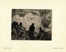 Hülsmann 1.g.r. - r. tambor fuego en Arras guerra pintor * era artist * 1.wk