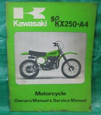 Genuine 1980 '80 Kawasaki Owner's Service Manual KX 250 KX250-A4 99963-0045-01
