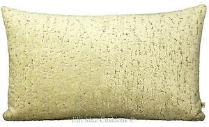 Zinc Designer Cushion Cover Hutton Moonbeam Velvet Silver Cream Throw Pillow