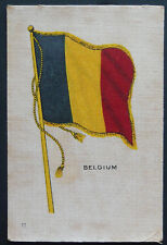 BELGIUM  Flags of all Nations 1910 United Tobacco  Silk