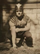 VINTAGE AMERICAN FOOTBALL HELMET 1940s UNIFORM CHICAGO ARTISTIC VERNACULAR PHOTO