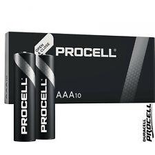 10 x Duracell AAA Procell MN2400 AM4 LR03 ALKALINE Batteries 1.5V ALKALINE