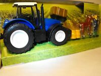 TOY FARM VEHICLE PLAY FARMING PLAY SET MODEL TRACTOR WITH FARMER AND HORSE TOY