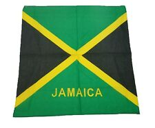 "NEW JAMAICAN  FLAG  DESIGN JAMAICA BANDANNA 100% COTTON 22x22"" HEAD WRAP SCARF"