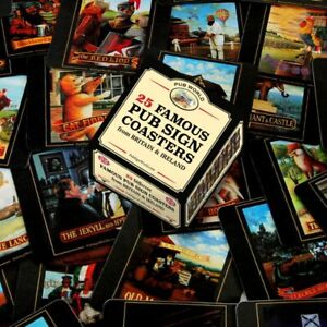 Famous Pub Sign Coasters/ Beer Mats Set of 25 (pwm)