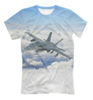 Boeing F/A-18E/F Super Hornet t-shirt - all over printed fighter aircraft tee