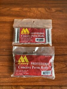 """Marianna Concave Perm RodsGray 2.5"""" & 3.2""""  2 Package Total 24 New"""