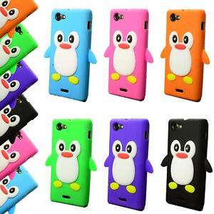 BlackBerry Z10 Silikon Handyhülle Schutzhülle SoftcaseTasche Hülle Cover Pinguin