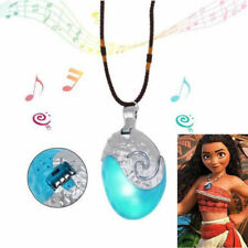 Trendy cartoon Moana Necklace Costume Cosplay Props Princess Heart of Glowing