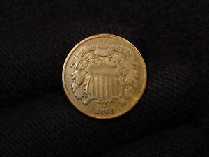 1869 2 Cent Piece ORIGINAL F/F+
