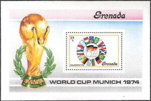 Grenada 1974 World Cup Soccer Championships Souvenir Sheet MNH (SC# 561)