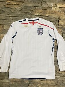 Umbro England 2007 2009 Youth LB 10/11 Long Sleeve Jersey Clean!