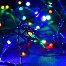 LED Lichterkette 100er bunt / mehrfarbig - grün 10m außen BA11689 xmas