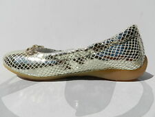 Naturino 2750 Chaussures Fille 28 Ballerines Babies Ballet Enfant Gold Viper New