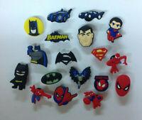 New Batman Superman Spiderman PVC Shoe Charm