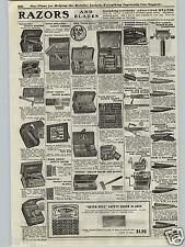 1917 PAPER AD Berkshire Sheffield Wade & Butcher Straight Razor Gillette Star ++