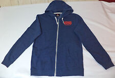 NWT Quiksilver Long Sleeve Blue Zipper Front Hoodie       Medium     L1762