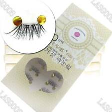 5 Box 100% Real Handmade Cross False Eyelashes Half Tail Letting-out Eye Lashes