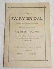 JOHN H. HEWITT -- Juvenile Cantata Libretto -- THE FAIRY BRIDAL -- Oliver Ditson
