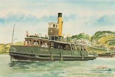 Devon Art Postcard, The Mew Ferry from Kingswear to Dartmouth by G.S Cooper JI2
