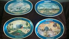 Epcot Disney vintage (4) tin wall plaques / plates 1982 RARE in pkg.