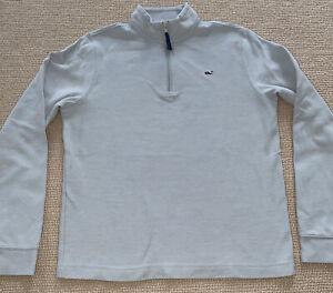 Vineyard Vines Boys Cotton Quarter Zip Pullover Sweater Light Blue Size Large 16
