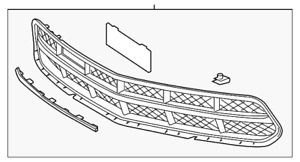 Genuine GM Grille Assembly 84019861