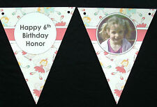 PAPER BUNTING - HAND CRAFTED - PERSONALISED - WITH PHOTO - FOR GIRLS BIRTHDAY