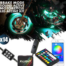 Led Honda Pioneer 700-4 ATV UTV Quad 4 Wheeler 14pc Led Neon Glow Kit Music Mode
