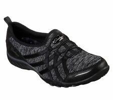 NEU SKECHERS Damen Sneakers Turnschuhe Loafers BREATHE-EASY - UNTROUBLED Schwarz