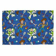 TOY STORY 4 RESCUE FLEECE BLANKET THROW, Features Buzz Woody Forky, LICENSED NEW