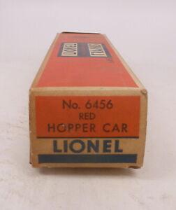 BX Lionel Postwar 6456 Red Hopper Car - Empty Box