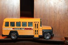 1980 Buddy L Yellow Pressed Steel Diecast School Bus  Working Door Japan