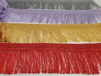 "FRINGE TASSEL TRIM, FRINGING LACE, COLOUR OPTIONS 5"" 12CM DROP (Style 06)"