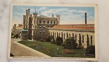 Antique Postcard Posted 1920 Entrance & East Wing Illinois State Pen Joliet