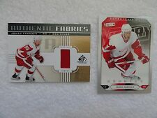 Johan Franzen 2011/12 Upper Deck Authentic  Jersey Card + Free 05/06 Rookie Card