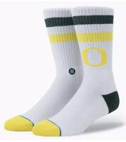 NWT University Of Oregon Ducks Stance NCAA Socks Large College Men's 9-12