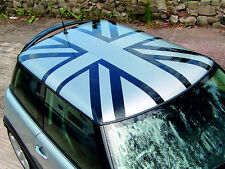 BMW Mini Cooper Union Jack Roof Decal Graphic  RED & BLUE ROOFS EDGE VERSION.