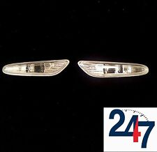 NEW BMW 5 SERIES E60 61 2003-2009 WING WHITE REPEATER INDICATORS PAIR LEFT RIGHT